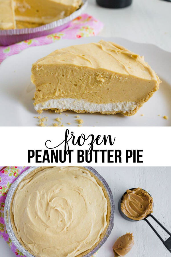 Frozen Peanut Butter Pie - this is a tasty treat for summer! via www.thirtyhandmadedays.com