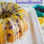 The best ever Lemon Blueberry Bundt Cake - perfect treat for Spring! www.thirtyhandmadedays.com