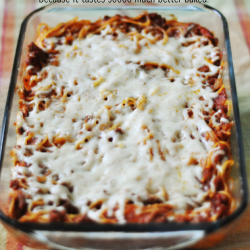 Baked Spaghetti - because it really tastes so much better baked! www.thirtyhandmadedays.com