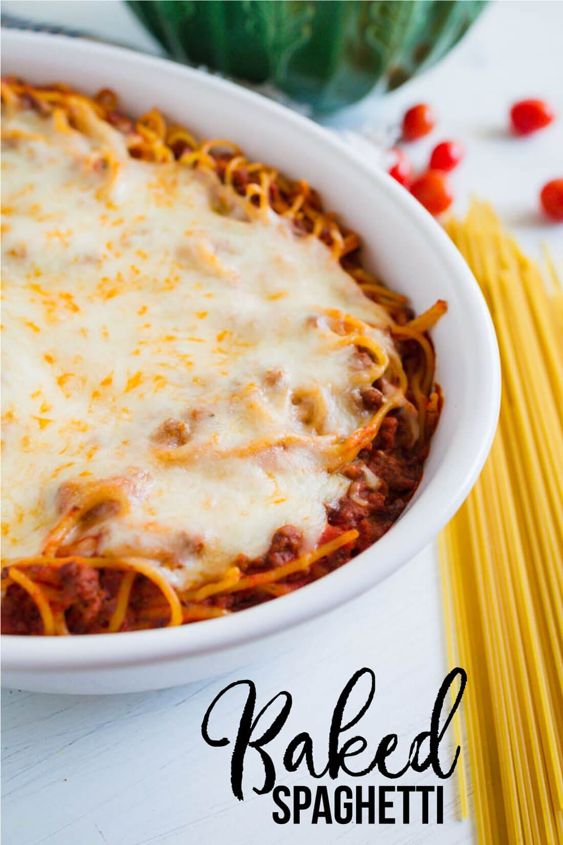 Baked Spaghetti - a family favorite dinner and the best way to eat spaghetti!