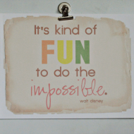 """..do the impossible"" Printable"