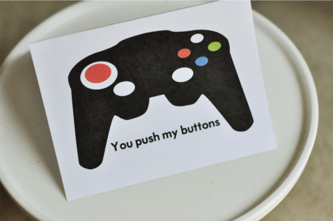 Printable Fathers Day Cards - download this gamer card.