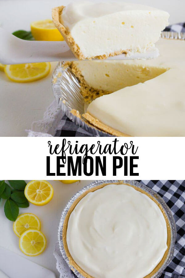 Refrigerator Lemon Pie - the perfect dessert for a summer day!