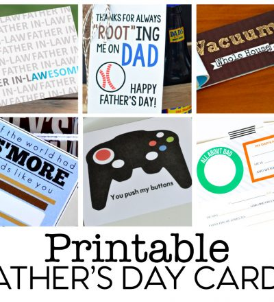 Printable Fathers Day Cards - download one (or all) of these cards.