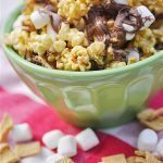 S'mores Caramel Popcorn from Your Home Based Mom