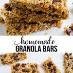 Homemade Granola Bars Recipe -way better than the store bought version. These taste amazing! via www.thirtyhandmadedays.com