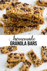 Homemade Granola Bars Recipe -way better than the store bought version. These taste amazing! via www.thirtyhandmadedays.com