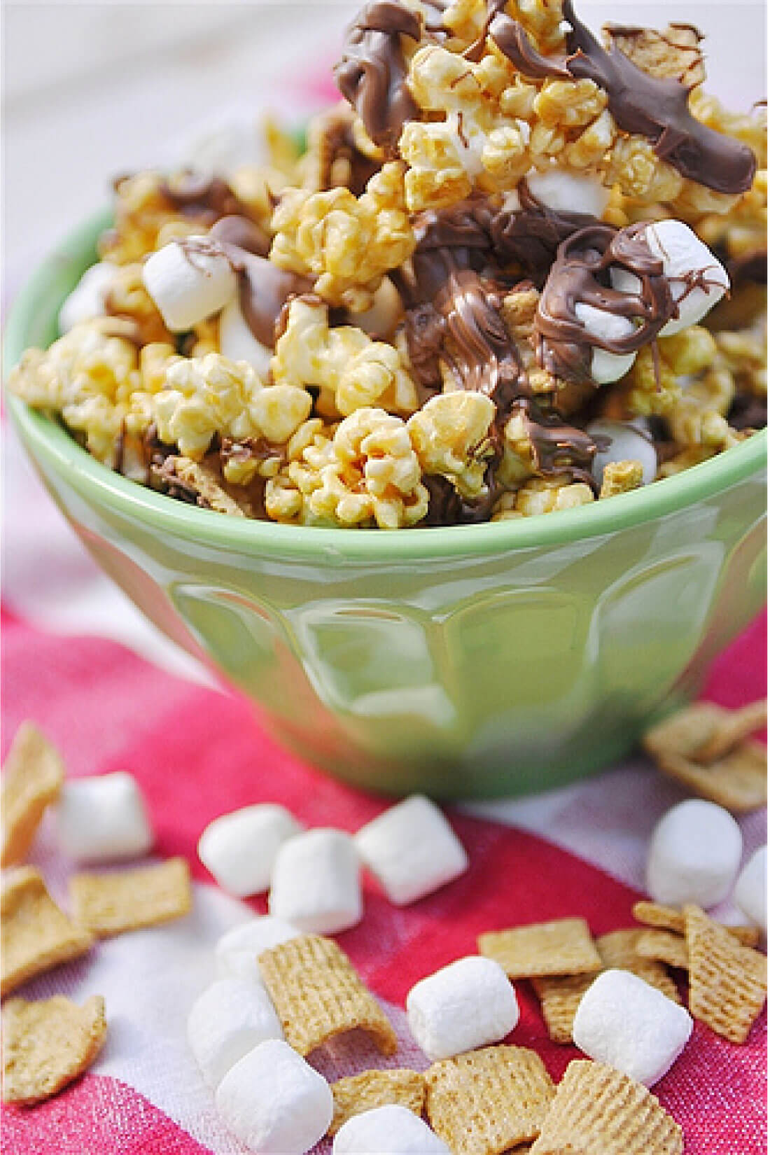 Take traditional Caramel Popcorn to the next level with this S'mores version!