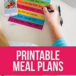 Printable Meal Planning Template - download this simple dinner planner via www.thirtyhandmadedays.com