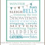 Subway Art: Winter Printable