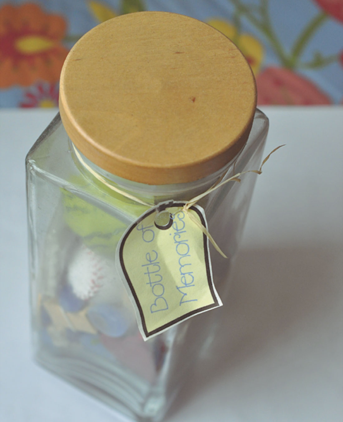 Sentimental gifts - make this bottle of memories for someone you love!