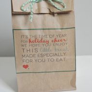 Christmas Treats: Printable Holiday Treat Card