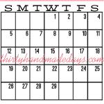 February iPhone Calendar