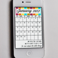January 2012 iPhone Calendar