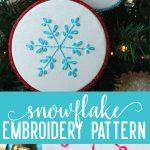 Perfect for the holidays - use these embroidery snowflake patterns to make adorable Christmas ornaments. via thirtyhandmadedays.com