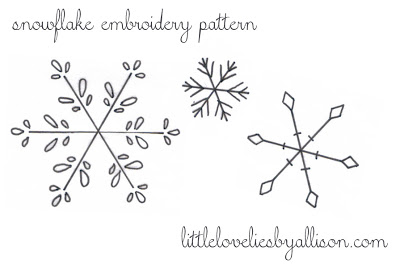 Perfect for the holidays - use these embroidery snowflake patterns to make adorable Christmas ornaments. free pattern via thirtyhandmadedays.com