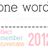 One Word for 2012