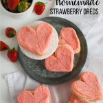 Valentine Cookies - make these delicious Homemade Strawberry Oreos from www.thirtyhandmadedays.com