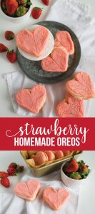 Valentine Cookies - make these delicious Homemade Strawberry Oreos from www.thirtyhandmadedays.com
