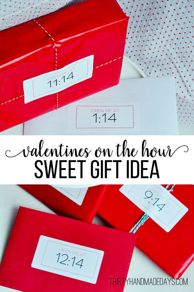Valentines on the Hour - sweet gift idea for your significant other. www.thirtyhandmadedays.com