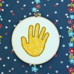 Stitched HandPrint Keepsake