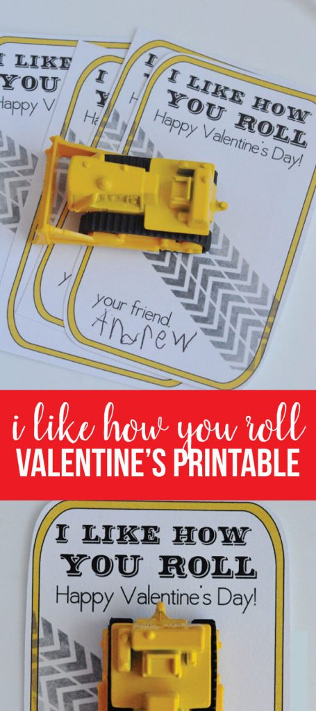 """Printable Valentines Day Ideas - this """"I like how you roll"""" is perfect for boys! from www.thirtyhandmadedays.com"""