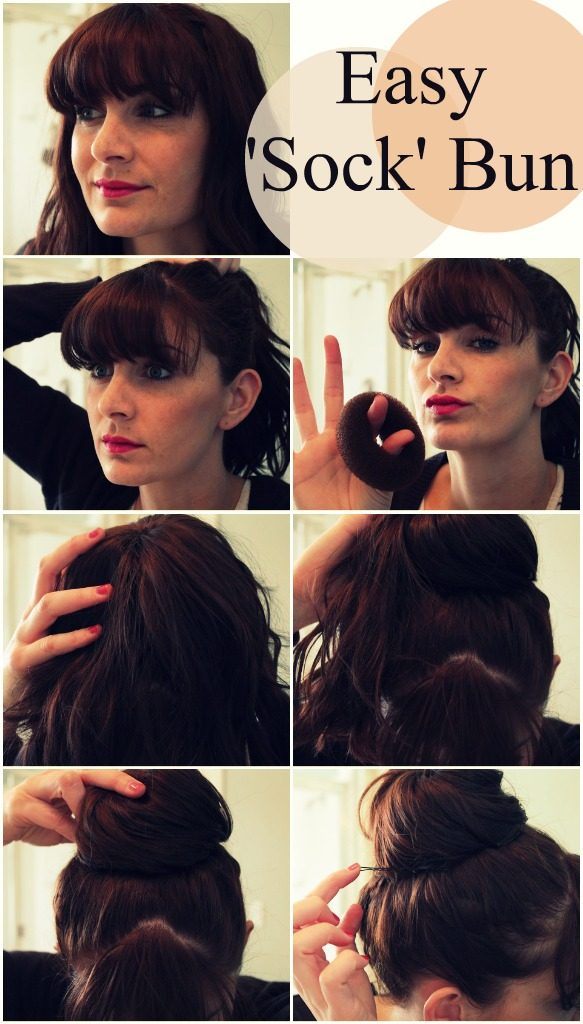 Easy Sock Bun Tutorial - learn how to make the perfect bun! via www.thirtyhandmadedays.com
