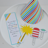 Dr Seuss' Birthday Bookmarks