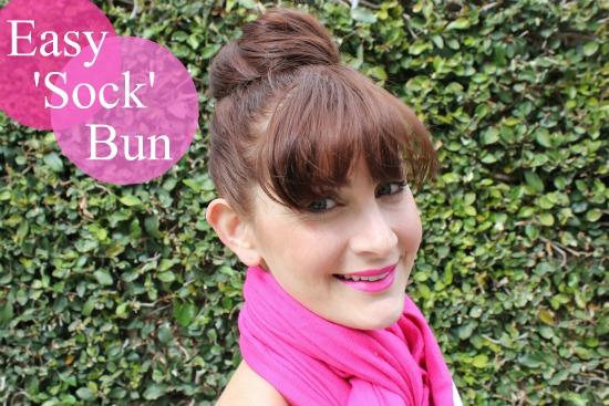 Easy Sock Bun Tutorial - learn how to make the perfect bun!