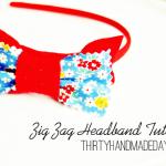 How to make a headband- Zig Zag Tutorial