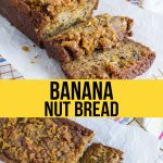 A delicious Banana Nut Bread Recipe with a cinnamon sugar topping that will knock your socks off! from www.thirtyhandmadedays.com