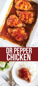 Dr. Pepper Chicken - an easy dinner recipe made with just a few ingredients from www.thirtyhandmadedays.com
