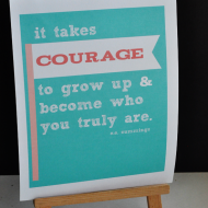 Free Printable: Courage Quote