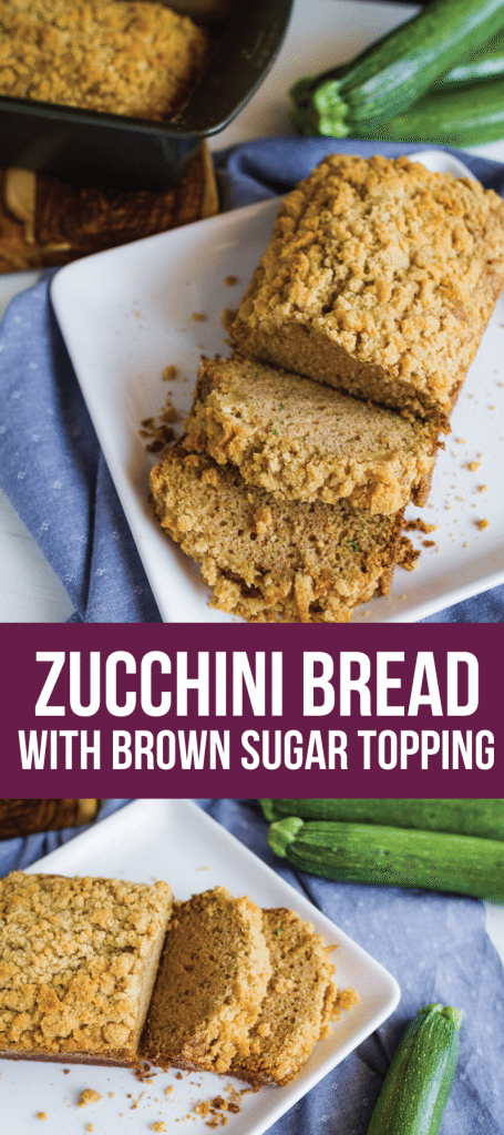 Zucchini Bread with Brown Sugar Topping - try this amazing quick bread. It's so easy to make and delicious! from www.thirtyhandmadedays.com