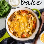 Beef Taco Bake - one of the easiest main dish recipes out there! www.thirtyhandmadedays.com