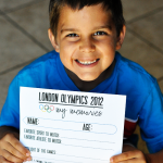 London Olympics Memories Sheet