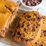 Chocolate Chip Pumpkin Bread- an easy quick bread recipe that is perfectly fall.