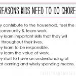 Let's Discuss: Chores