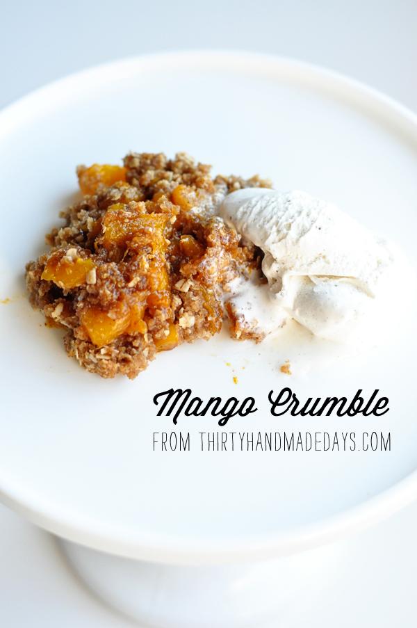 mango crumble recipe