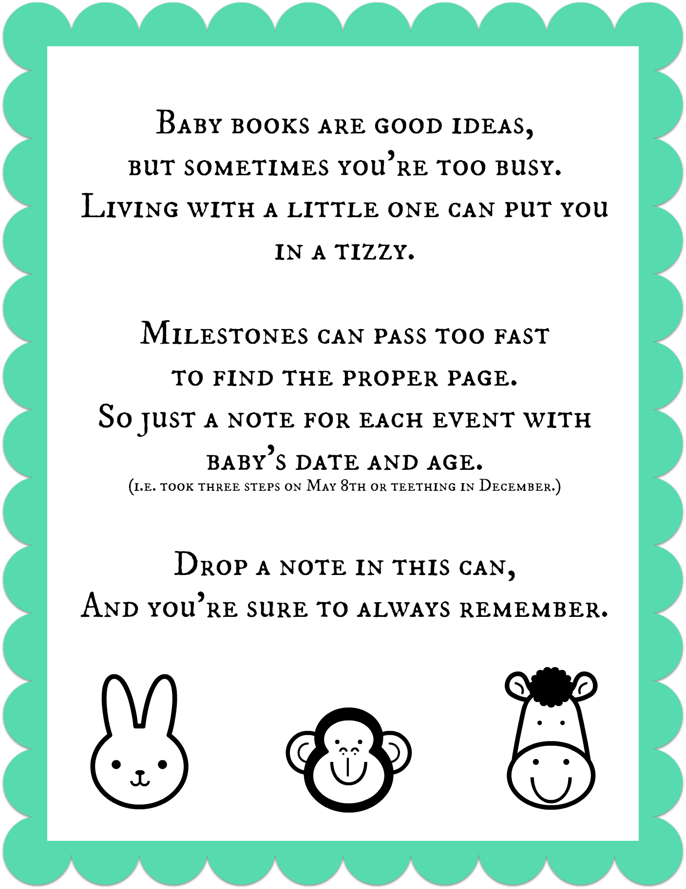 Printable Baby Book Pages - Save