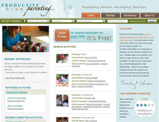 A great website for kids activities is Productive Parenting