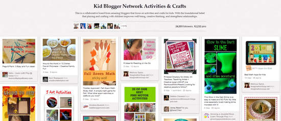A fabulous Pinterest board for Kids Activities