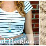 DIY Turquoise Pendant Necklace