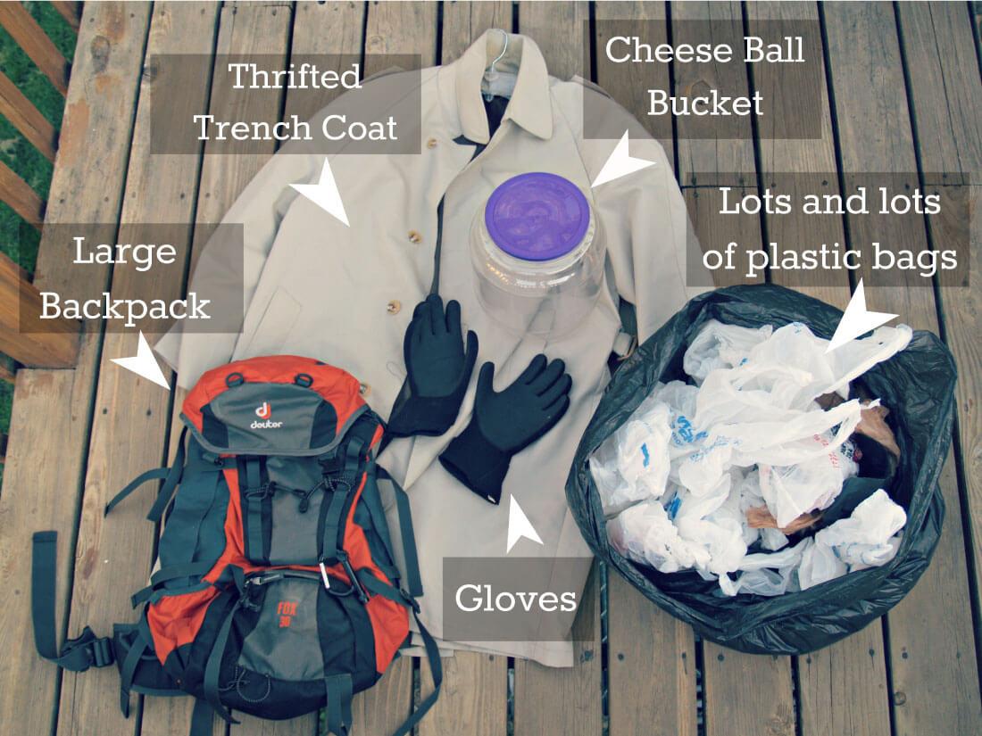 DIY Costume - make a jar head Halloween costume! Supplies you need.