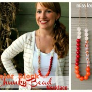 Color Block Chunky Bead Necklace Tutorial