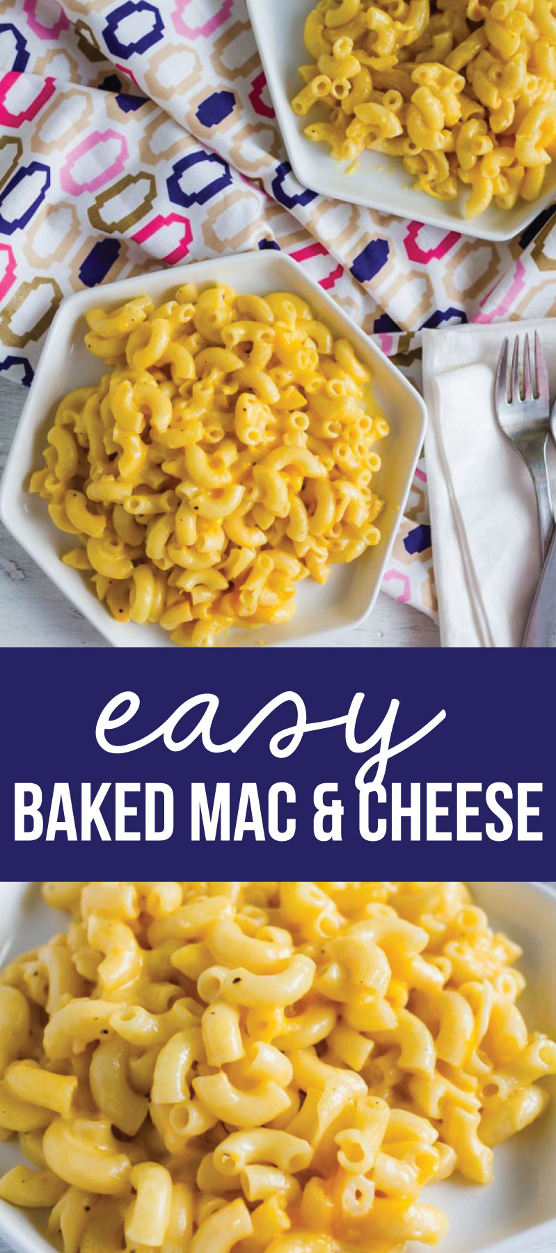 Easy Baked Mac and Cheese - one of our favorite family dinners. from www.thirtyhandmadedays.com