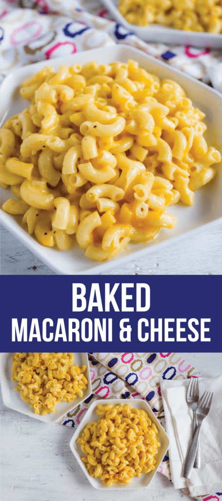 Food and drink: Baked Macaroni and Cheese - the best way to make mac and cheese. Simple dinner recipe!