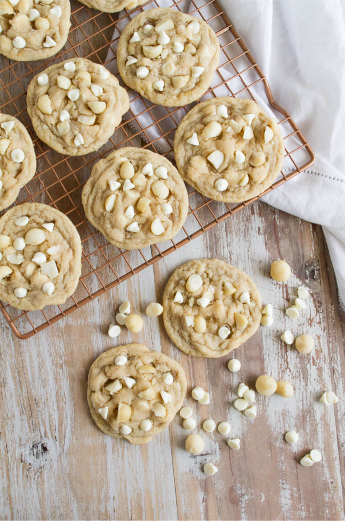 You won't find a better White Chocolate Macadamia Nut Cookies recipe - rich and sweet, these will knock you off your feet from www.thirtyhandmadedays.com