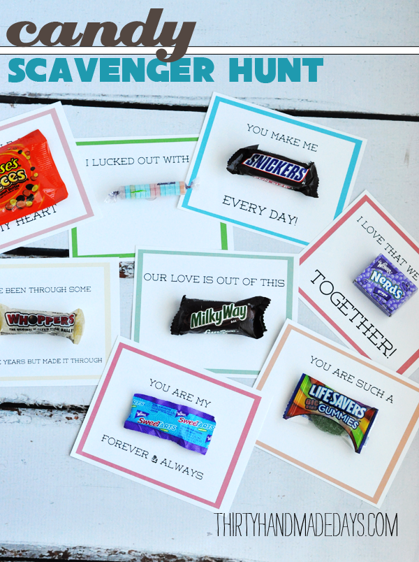 Scavenger Hunt using leftover Halloween candy