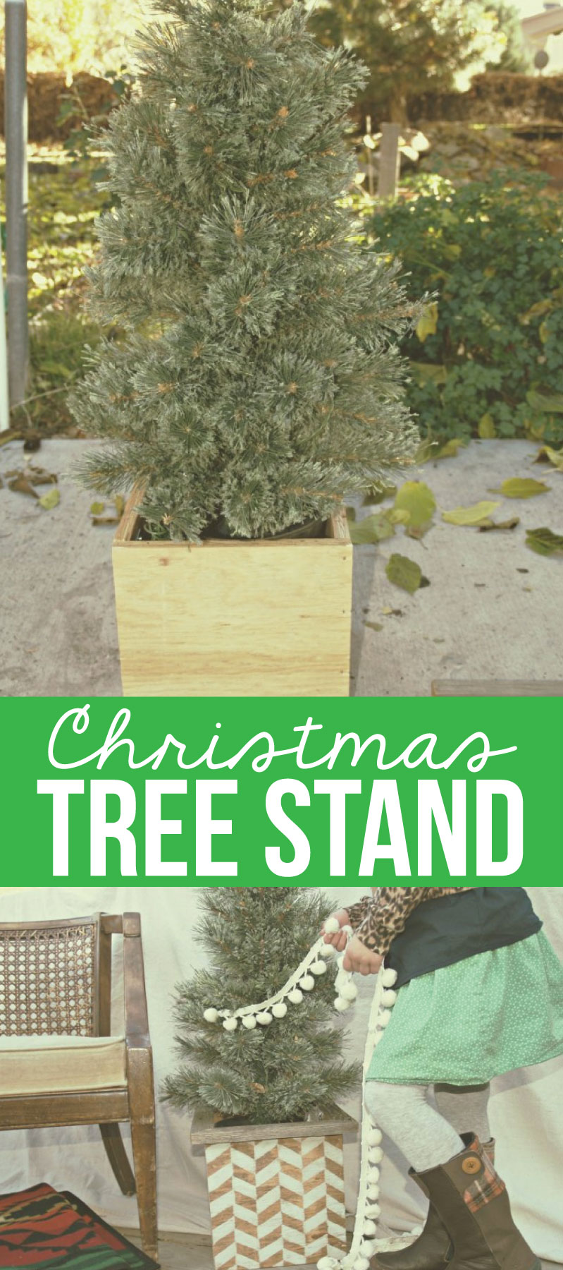 Christmas tree stand slipcover for Build your own tree stand